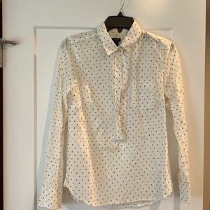Jcrew polka dot blouse